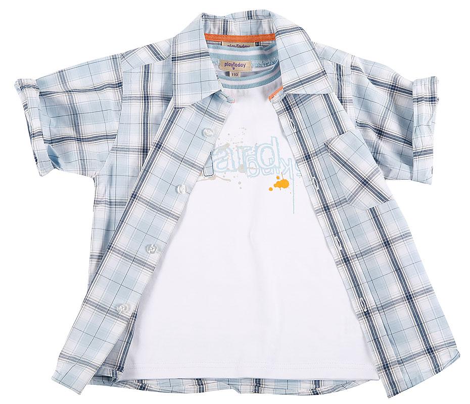 Комплект:майка, рубашка для мал.101006 101006