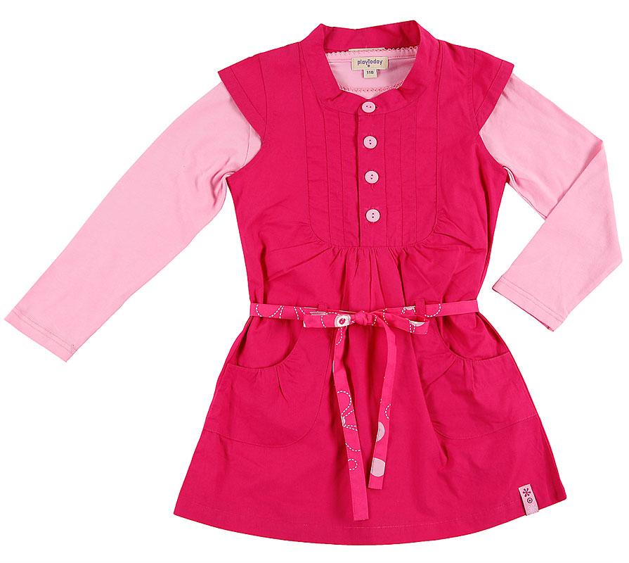Комплект:футболка, платье для дев.102009 102009