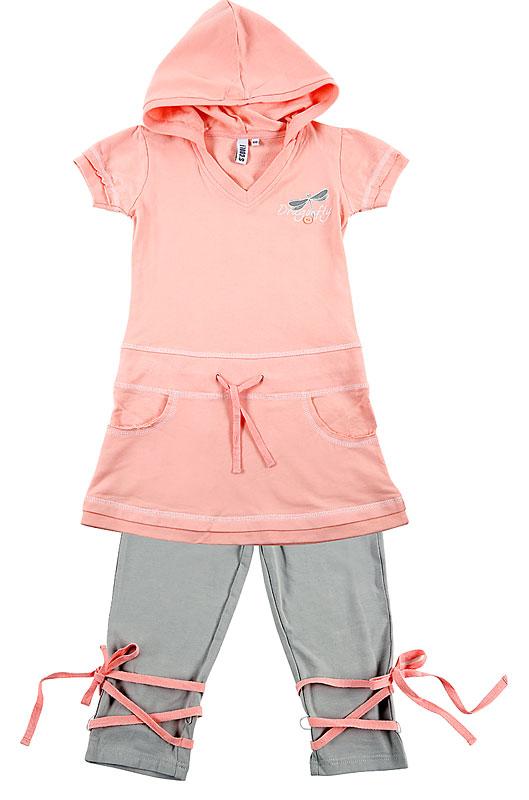Комплект: платье, леггинсы для дев.10434 10434