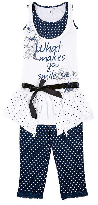 Комплект:платье, майка, леггинсы для дев.10446 10446