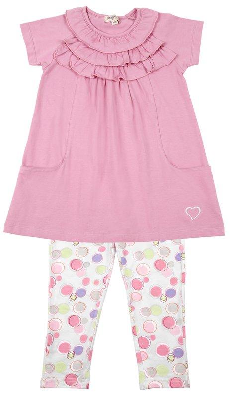 Комплект: платье, леггинсы для дев. 112020