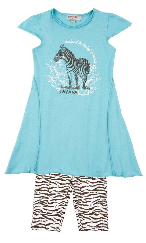 Комплект: платье, легинсы для дев. 112051