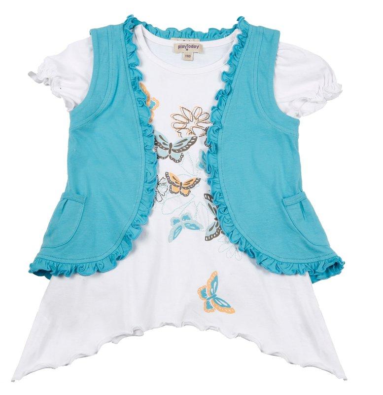 Комплект: жилет, футболка для дев. 112054