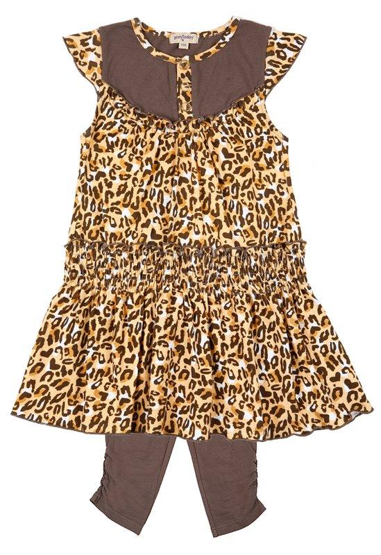 Комплект: платье, легинсы для дев. 112058