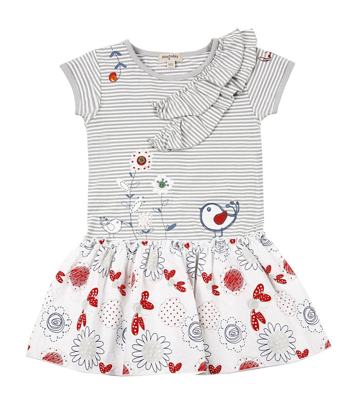 Комплект: платье, леггинсы для дев. 112075