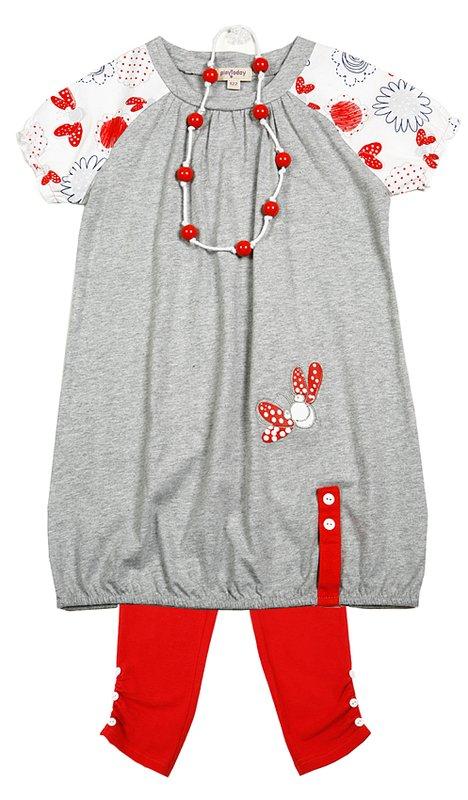 Комплект: платье, леггинсы для дев. 112076