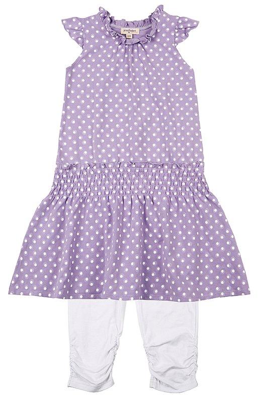 Комплект: платье, леггинсы для дев. 112100