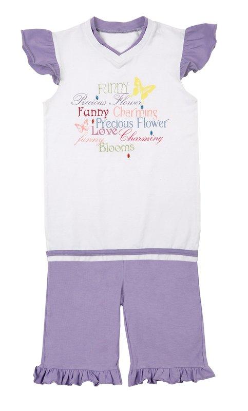 Комплект: футболка, шорты для дев. 112113