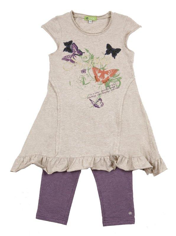 Комплект: платье, леггинсы для дев. 11479