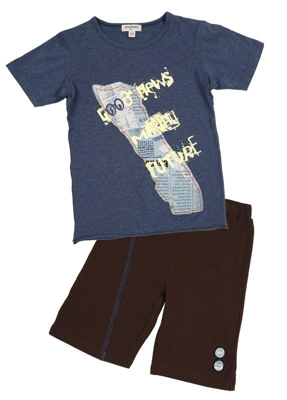 Комплект: футболка, шорты для мал 11526