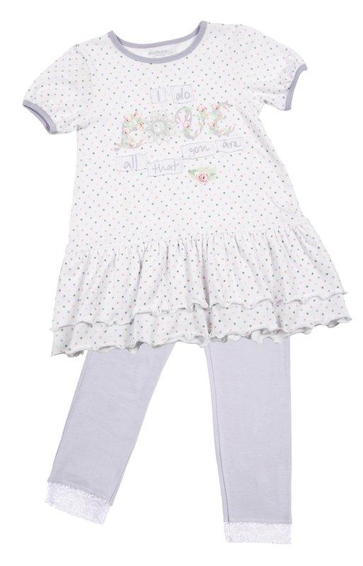 Комплект: платье, леггинсы для дев. 11602