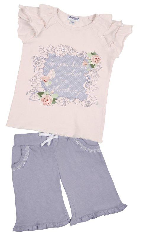 Комплект: футболка, шорты для дев. 11606