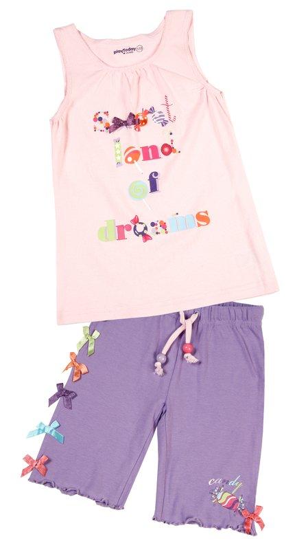 Комплект: майка, шорты для дев. 11620