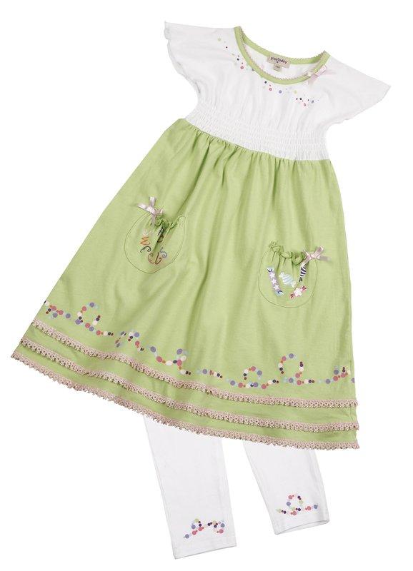 Комплект: платье, леггинсы для дев. 11626