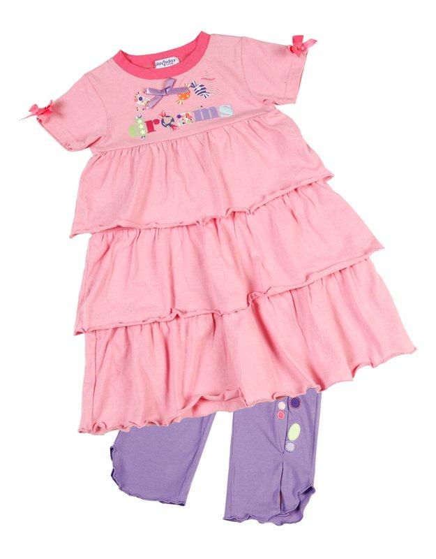 Комплект: платье, леггинсы для дев. 11627