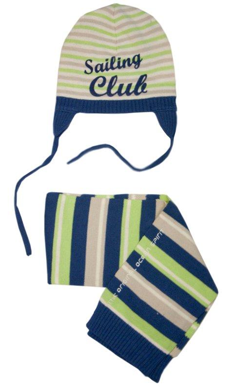 Комплект: шапка, шарф для мальчика 117026