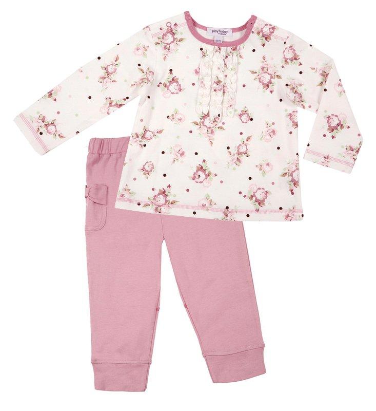 Комплект: футболка, брюки для дев. 118011