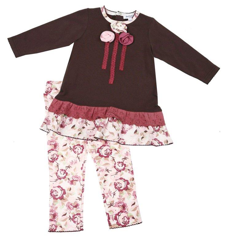Комплект: платье, леггинсы для дев. 118012
