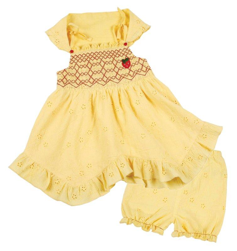 Комплект: платье, трусы, косынка для дев. 118040