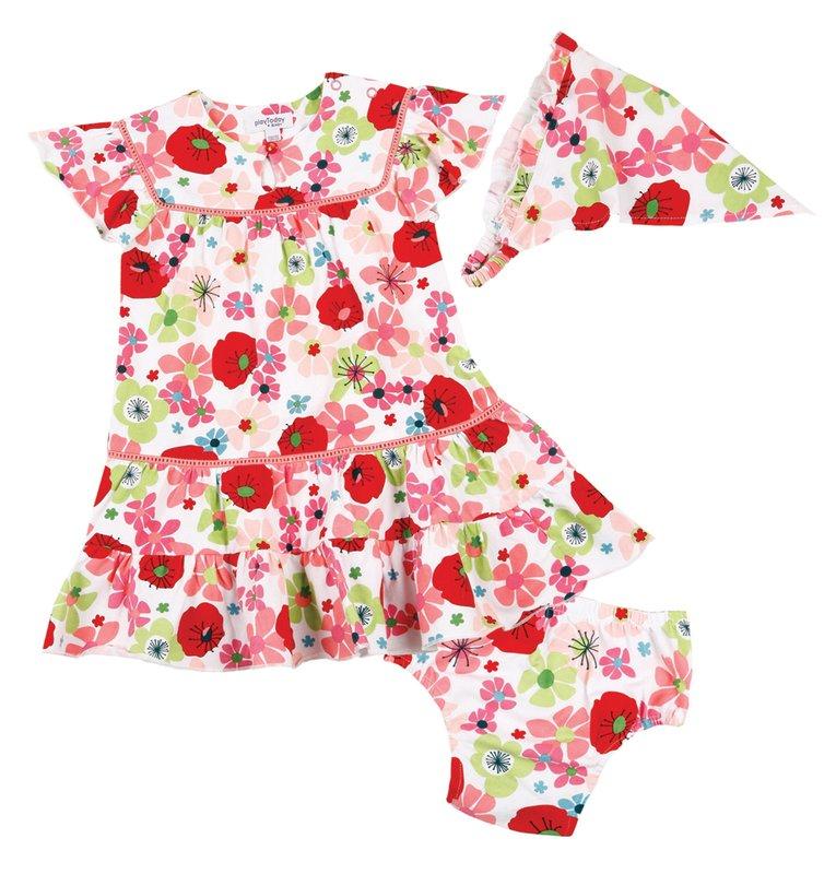 Комплект: платье, трусы, косынка для дев. 118042