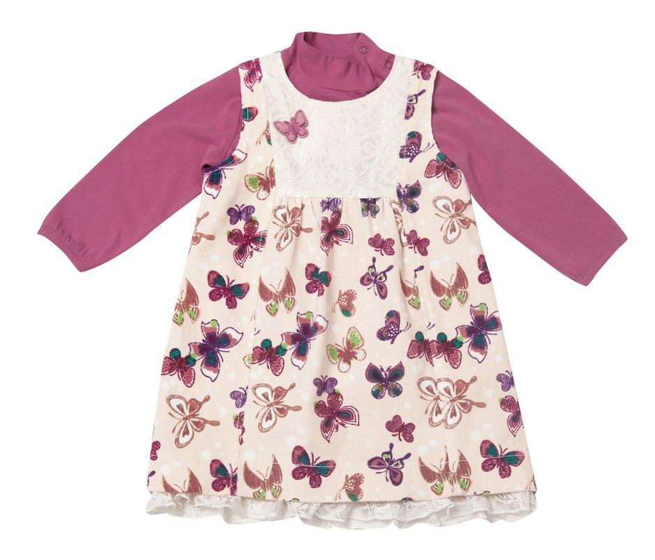 Комплект: платье, боди 128009
