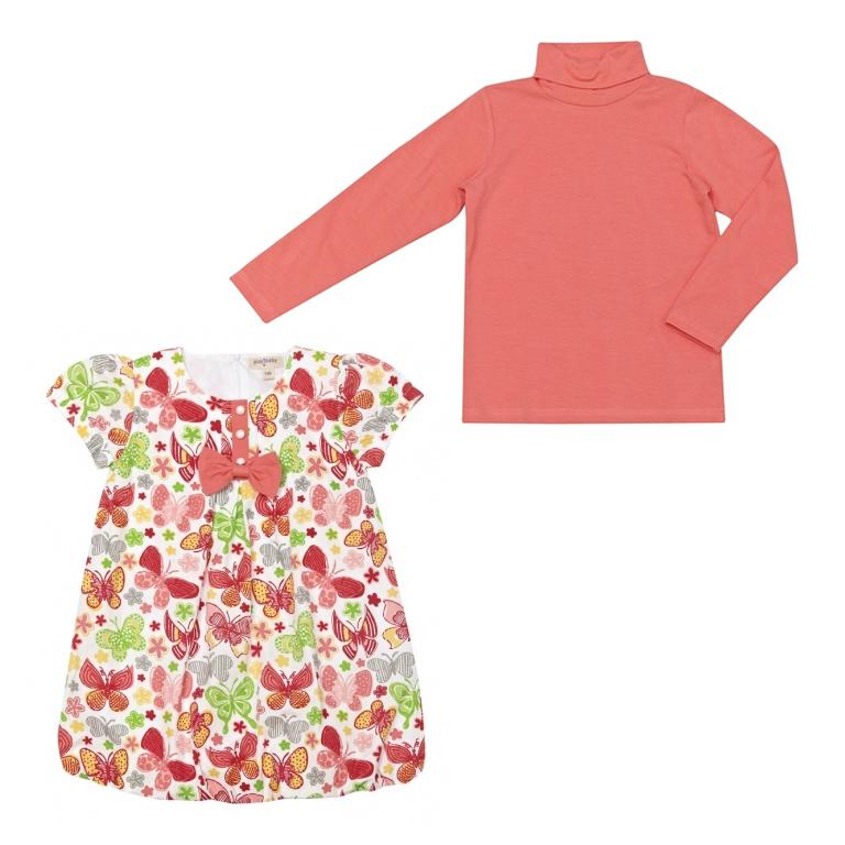Комплект : платье, водолазка 132039