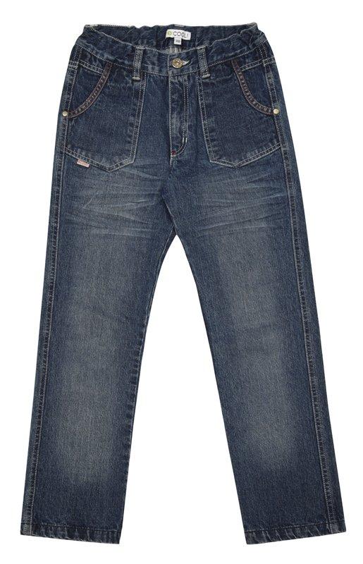 Брюки текстильные джинсовые 133009