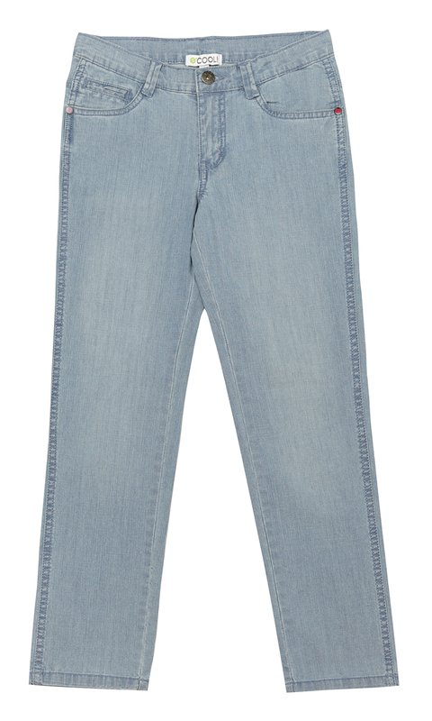 Брюки текстильные джинсовые 134039