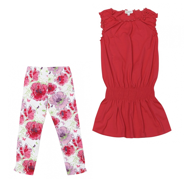 Комплект трикотажный: платье, брюки (леггинсы) 134054