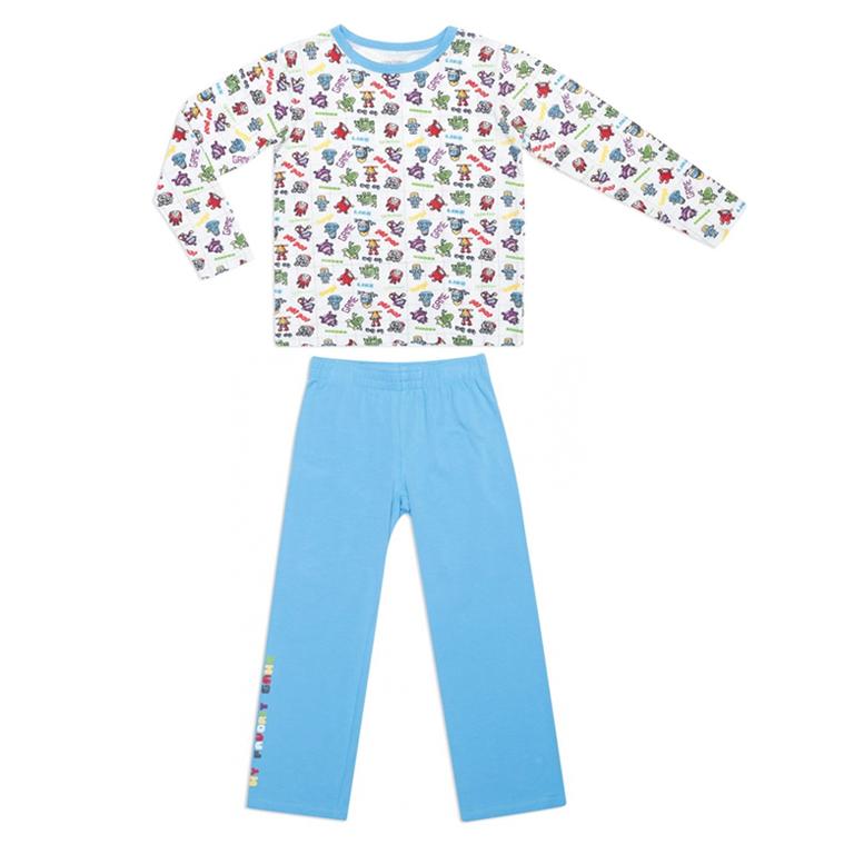 Пижама: футболка с длинными рукавами, брюки 145001