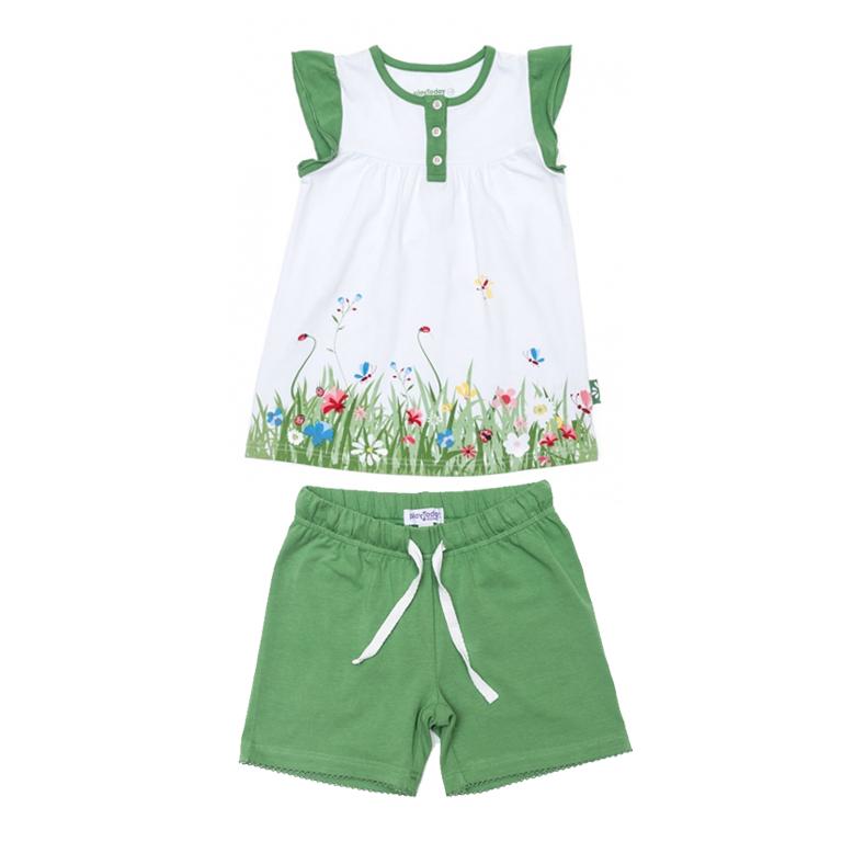 Пижама: туника, шорты 146004