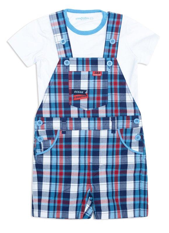 Комплект: футболка, полукомбинезон 147044