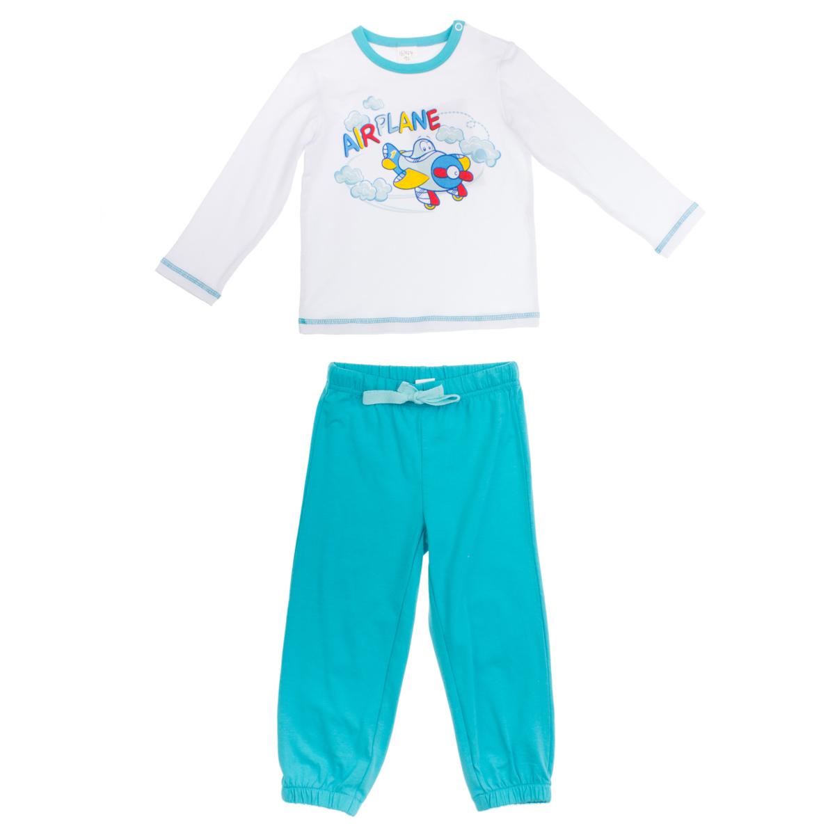 Комплект: футболка с длинными рукавами, брюки 167024