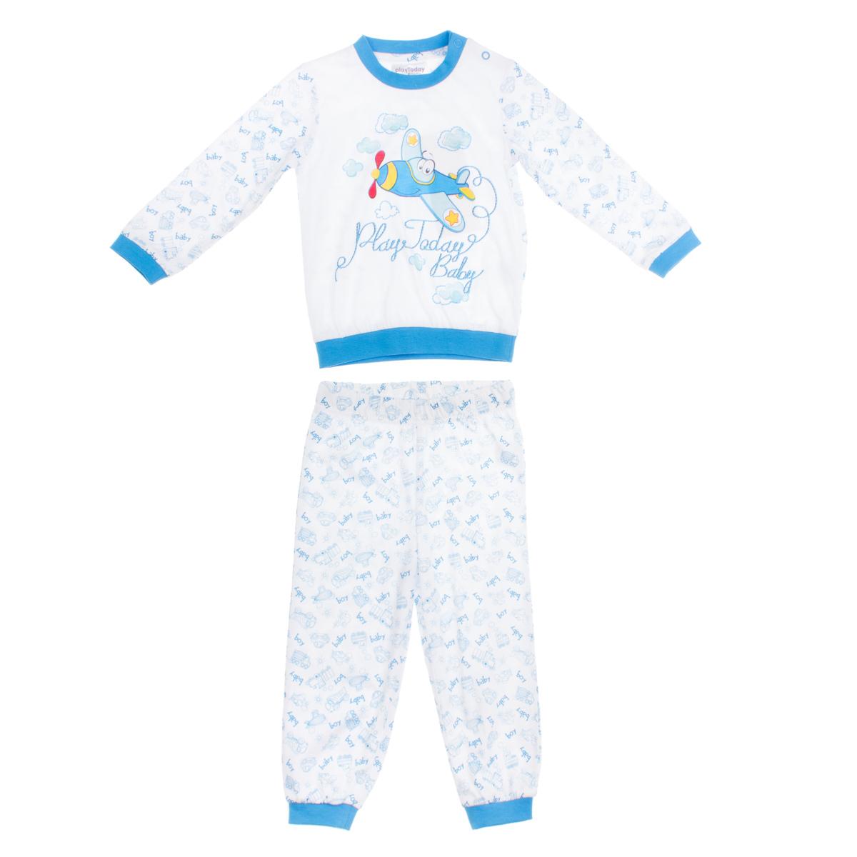Комплект: футболка с длинными рукавами, брюки 167026