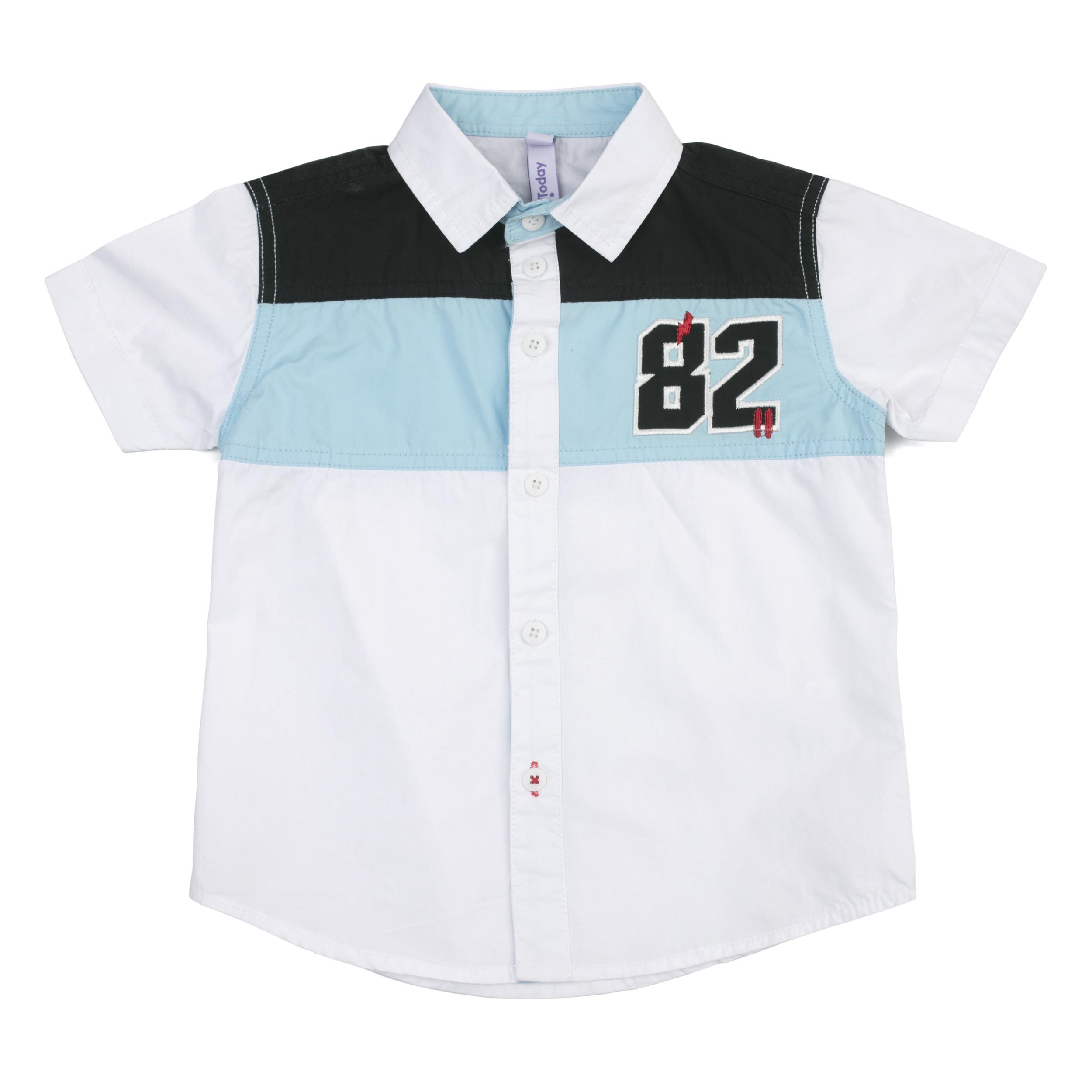 68a448cc219 181101 Белая сорочка для мальчика PlayToday - купить на odevaika.ru