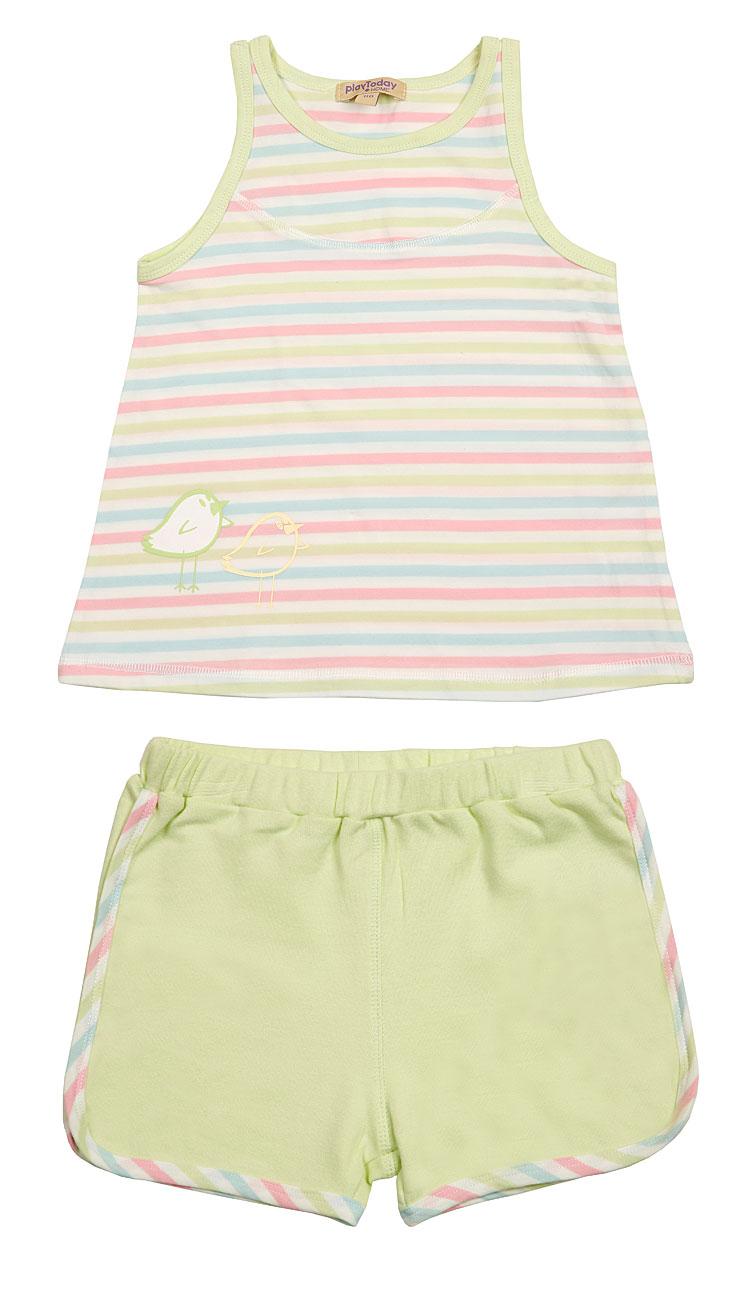 Комплект: майка, шорты для дев. 19615