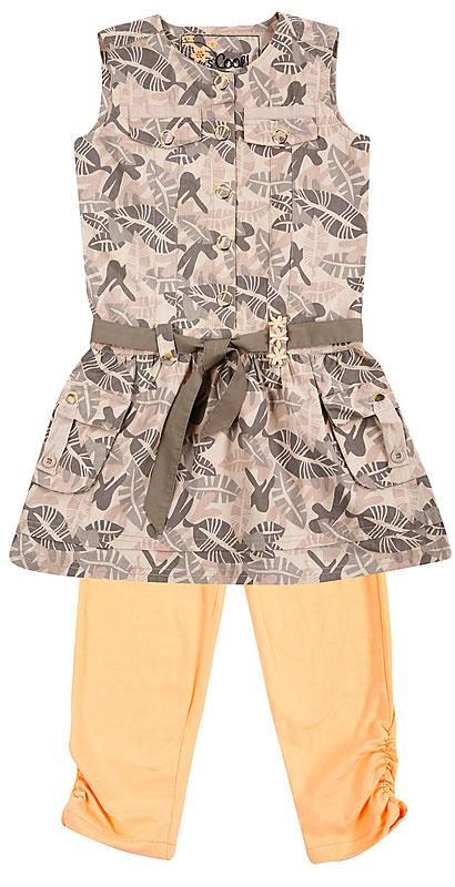 Комплект: платье, леггинсы для дев. 20410