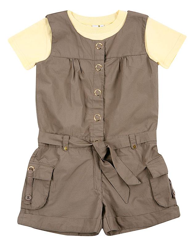 Комплект: комбинезон, футболка для дев. 20411
