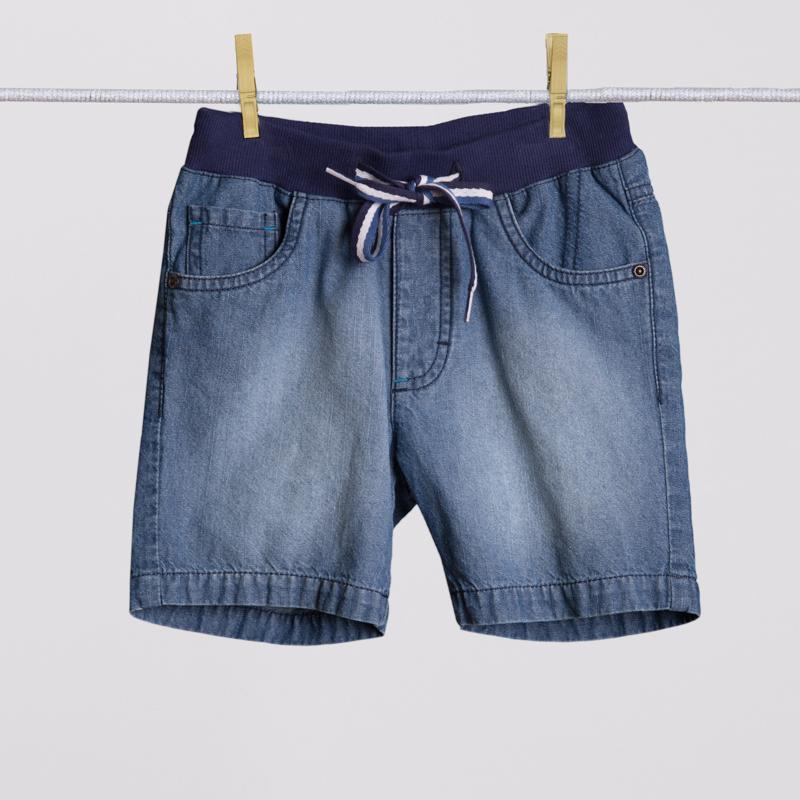 Шорты текстильные джинсовые для мальчиков 251009