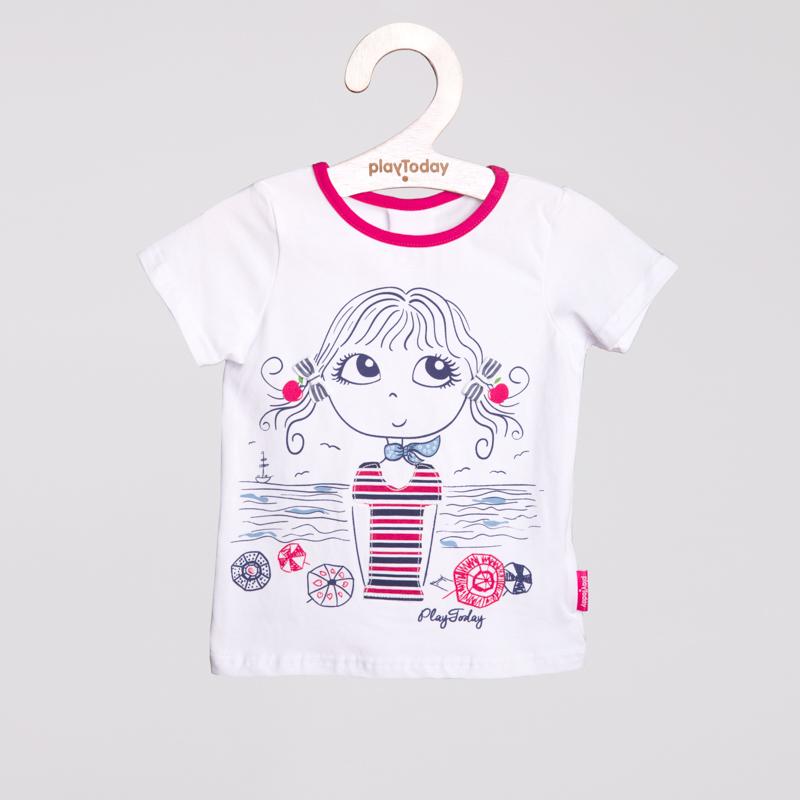 Фуфайка трикотажная для девочек (футболка) 252003