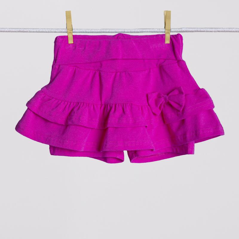 Юбка-шорты трикотажная для девочек 252013
