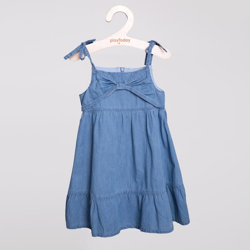 Сарафан текстильный джинсовый для девочек 252036