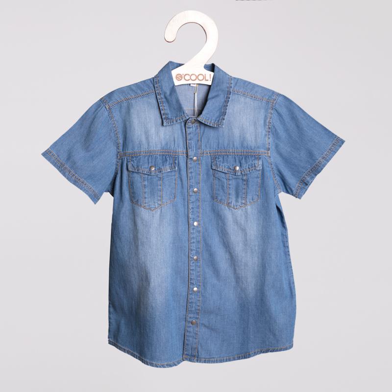 Сорочка текстильная джинсовая для мальчиков 253011