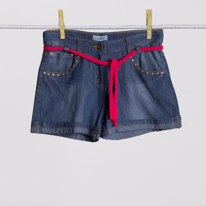 Шорты текстильные джинсовые для девочек 254011