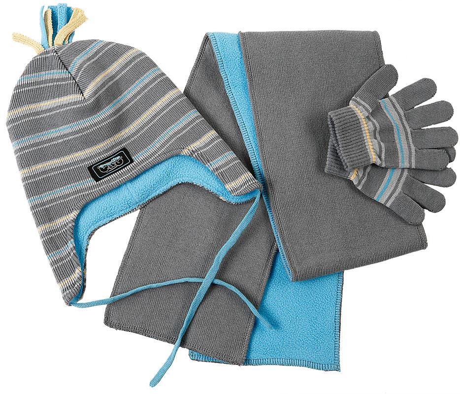 Комплект: шапка, шарф, перчатки для мал. 301028