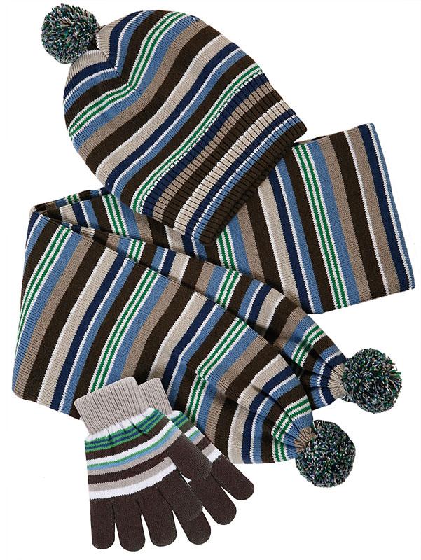 Комплект: шапка, шарф, перчатки для мал. 301055