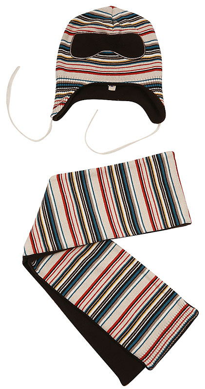 Комплект: шапка, шарф для мал. 301084