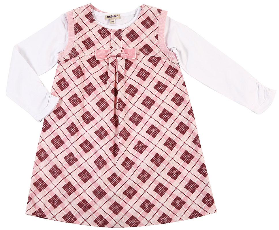 Комплект: сарафан, футболка для дев. 302022