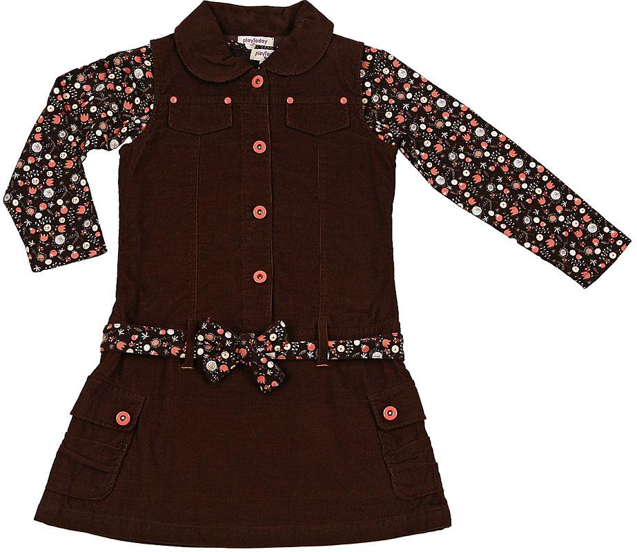 Комплект: сарафан, футболка для дев. 302086