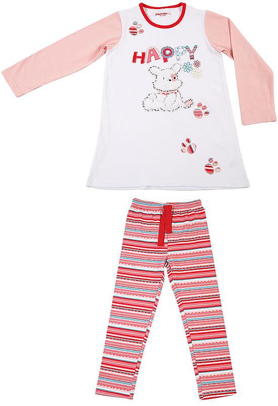 Комплект: футболка, брюки для дев. 30601